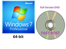 Windows 7 Professional 64-Bit avviabile DVD di installazione completa versione SP1 CD Disc