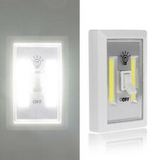 Mini COB LED Cordless Light Switch Wall Cabinet Night Lights Battery Operated