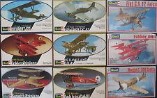 9x REVELL Flugzeug Modellbausätze - 1:72 - Model Kit - Sammlung Konvolut (16)