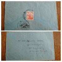 VERY RARE NEPAL 1952 POSTALY USED COVER TO WEST BENGAL, INDIA UNIQUE DESTINATION