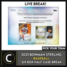 2021 Caja de béisbol 6 BOWMAN STERLING (mitad Case) romper #A1204 - Elige Tu Equipo