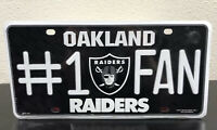NFL Team #1 Fan Metal Sign License Plate Tag Man Cave Oakland Raiders