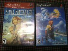 2 games Final Fantasy 10 Final Fantasy 12  2 PlayStation PS2