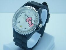Reloj HELLO KITTY watch NEGRO con correa de goma  Precioso  A1188