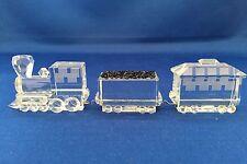 IRIS ARC SWAROVSKI CRYSTAL Wheels Collection 3 pc TRAIN Engine- Coal Car Caboose