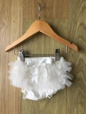 Baby Girls Frilly Tutu Knickers Nappy Cover Wedding Christening Cake Smash Ivory