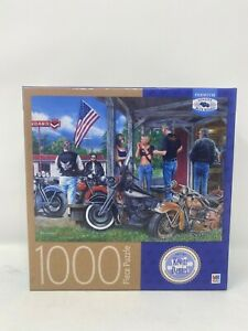 Milton Bradley Rust in Peace Biker Art Kevin Daniel 1000 Piece Puzzle New