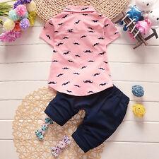 infantil recién nacido bebé niño Ropa Disfraz Suéter Camiseta + pantalones