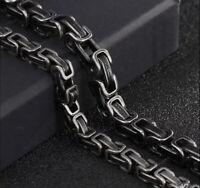 Herren Silber Wikinger Armbänder für Gunmetal Byzantiner 23CM Luxus 316L S-Stahl