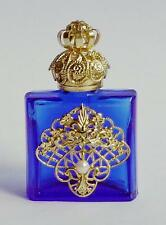 Luxury Vintage Czech Handmade Rhinestones Glass Perfume bottle Filigree