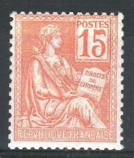 "FRANCE STAMP TIMBRE N° 117 "" MOUCHON 15c ORANGE "" NEUF xx LUXE   P449"