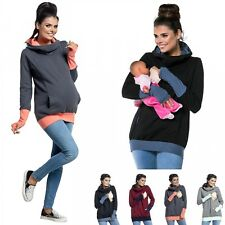 Zeta Ville - Women's breastfeeding top sweatshirt hoodie - nursing panel - 330c