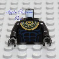 NEW Lego Pharaoh's Quest ANUBIS MINIFIG TORSO Black w/Gold Mummy Neck Chain 7327