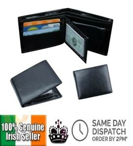 Bifold Pu Leather Wallet With Coin Pocket + RFID Blocking Card Money ID Protect