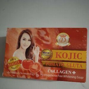Savon Tomato Glutathione Kojic, collagène  Eclaircissant, sans hydroquine