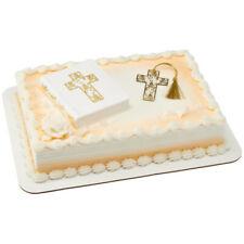 Religous Bible Cake Topper - Includes a gold cross bookmark - 24112