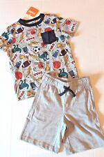 Gymboree Boy Size 4 Good Sport Pep Rally Tee Shirt & Gray Knit Shorts Outfit NEW