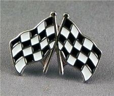 Metal Enamel Pin Badge Brooch Flag Chequered Checkered Checked Racing Flag