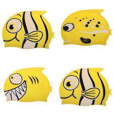 Waterproof Children Cartoon Silicone Swimming Bathing Caps Hat  Fish Shark Cute