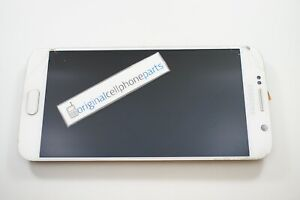 OEM Samsung Galaxy S6 SM-G920T LCD with Digitizer and Frame WHITE CRACKED LENS