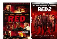 Red & Red 2 Double Feature (2 DVD SET) Bruce Willis John Malkovich NEW
