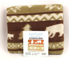 "SOLD OUT ""Bear Green"" Pacific Blanket Trading Company Fleece Blanket"