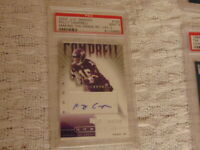 2002 Kelly Campbell Autographed Rookie Card PSA Mint 9 SP S#D Minnesota Vikings