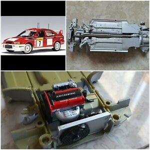 1:18 Mitsubishi Lancer EVO VI WRC Makinen by AutoArt - Chassis Engine * SPARES *
