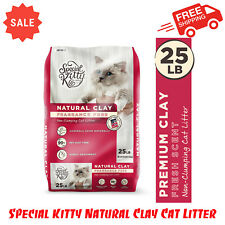 Special Kitty Natural Clay Cat Litter, Non-Clumping, Unscented, Low Dust, 25 lb