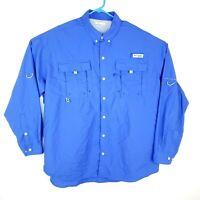 Columbia PFG Vented Shirt Mens XL Outdoor Fishing Long Sleeve Omni Shade Camping