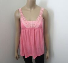 Hollister Womens Vintage Lace Babydoll Tank Top Size Small Pink