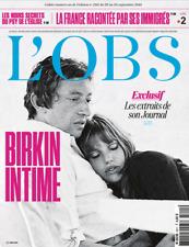 L'OBS n° 2811 * EN VERSION PDF * du 20 septembre 2018 - Jane Birkin & Gainsbourg