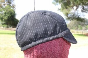 CYCLING CAP  100% WOOL BLACK COLOR   HANDMADE IN USA L M S