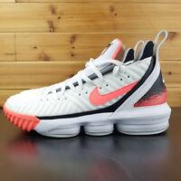 Nike Lebron James XVI Hot Lava Men's Shoes Basketball Shoes White CI1521-100