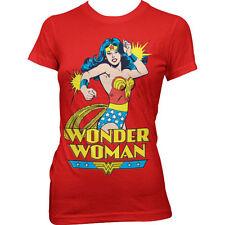 Wonder Woman Hip Length Cotton T-Shirts for Women