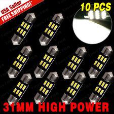 10 X High Power White Car Festoon 31mm DE3022 Dome Map Interior Lights 6-LED US