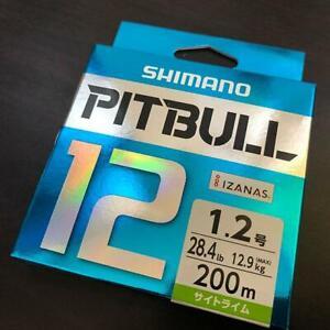 SHIMANO PITBULL X12 Braided Line PE 200m Lime Green Select LB From Japan #0408B