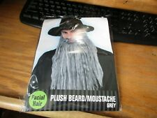 Grey Plush Mustache And Beard Costume Halloween Party Theater Cosplay NIP