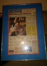 NOLAN RYAN SIGNED AUTOGRAPHED 7th NO HITTER FRAMED MATTED FORT WORTH STAR! RARE