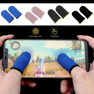 2 x Mobile Gaming Sweat Proof Finger Thumb Gloves Touch Screen for PUBG Game