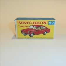 Matchbox Lesney Superfast 67 b Volkswagen 1600TL empty Repro F-SF1 style Box