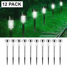 12x Solar Garden LED Lights Outdoor Waterproof Landscape Lawn Pathway LED Lamps