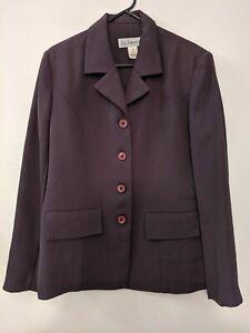 Liz Jordan Women's Blazer Jacket Size 12 Plum Colour Buttons Collar