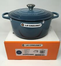 NIB Le Creuset Cast Iron 7 1/4-qt Round French (Dutch) Oven Marine Blue