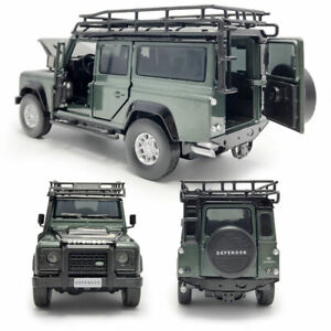Land Rover Defender Off-road 1:32 Model Car Diecast Gift Toy Vehicle Sound Green
