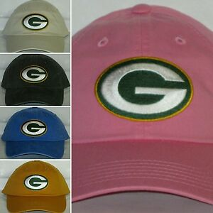 Green Bay Packers Ladies Garment Washed Cap 🏈Hat🏈NFL PATCH/LOGO🏈5 Colors🏈NEW