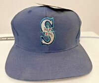 VTG LOGO 7 Seattle Mariners MLB Logo Hat Fibre Optic Blink Snapback Cap NWT