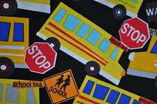 TIMELESS EE.UU. Tela de diseño 0,5m USA Escuela Bus Busse BUS ESCOLAR INFANTIL
