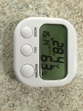 Table/ Travel clock/ Alarm With Indoor Outdoor Digital Thermometer & Hydrometer