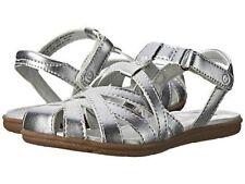 NIB Girls Sandals STRIDE RITE Baby Nandini Pewter Silver Strap 6 7 8 M